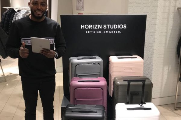 Brand Ambassadors Munich - HORIZN Studio Suitcases Luggage - Retail Brand Activation